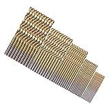 50 pcs 1/1.5/2/2.5/3mm Mini Bit Set Dremel Drill Tool Accessories Power Tools Drill Bits High Steel Speed Drill bits