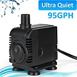 JAD 95 GPH (350L/H) Submersible Water Pump Professional Ultra-quiet water pump for aquarium,garden,pond,fish tank, fountain by Water Pump