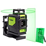 Huepar 901CG Laser Level Mute - Green Beam Cross Laser Self-leveling 360-Degree Coverage Horizontal Line with Vertical Line Coming with Magnetic Pivoting Base 2 Modes Allow Use with Laser Target