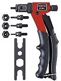 8'Blind rivet Hand Riveter Rivet Gun, Riveting Tools With Nut Setting System M3 M4 M5 M6