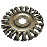 115mm (4.5') Heavy Duty Twist Knot Wire Wheel Brush for Angle Grinders - Rust Paint Removal
