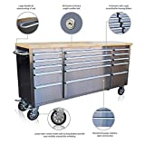 US PRO STAINLESS STEEL TOOL CHEST TOOL BOX WORKBENCH 72'