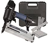 FERM ATM1051 Pneumatic Combi Tacker/2-in-1 Finishing Stapler - Nailer/Staple Nail Gun - 300 Nails, 100 Staples and a Storage Case included