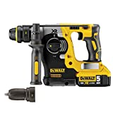 Dewalt DCH274P2 XR Li-Ion SDS Plus Rotary Hammer Drill with Quick Change Chuck, 18 V, Yellow/Black, Set of 7 Piece