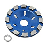 Aussel 4' Concrete Turbo Diamond Grinding Cup Wheel for Angle Grinder 12 Segs Heavy Duty (Blue 02)