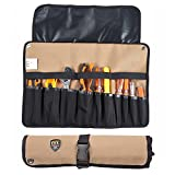 STARVAST 10 Pockets Tool Roll Tools Bag Plier Wrench Spanner Pouch Storage Multi-Purpose Fold Up Portable Carry Handle Bag for Craftwork Handyman Repairmen