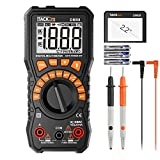 Tacklife Multimeter, DM08 Advanced Digital Auto Range Multi Tester True?RMS 2000 Counts Battery Tester AC/DC Voltage and Current,?Continuity, Resistance, Diodes Test with NCV and Data Retention