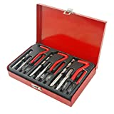 PROGEN 88pcs Thread Repair Tool Kit helicoil type with M6, M8, M10, Drill Bit and Insert Taps