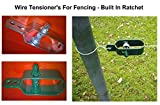 Wire Fence Tensioner - (4 Pack - Natural) Ratchet Type - Galvanised Green or Natural