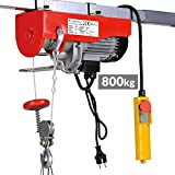 Timbertech 230 V 400/800 kg Electric Winch Hoist (Choice of Carrying Capacity) Cable Remote Control 12/6 m Lifting Lowering Crane
