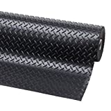 3m x 1m | Black 1 Bar Checker Rubber Garage Flooring Matting | 3mm Thick Floor Roll | Mat Suitable for Gym, Stable, Playground etc | 9ft 9' x 3ft 3' | 118' x 40 Inches | 300 x 100cm