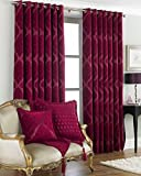 Riva Paoletti Winchester Eyelet Curtains, Raspberry, 229 x 229 cm