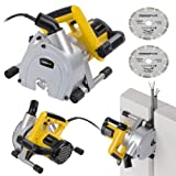 Powerplus 150mm 1800 Watt Wall Chaser Slotter + 2 x Diamond Cutting Discs & Case - Ideal for Concrete, Masonry, Tiled Walls, Flooring POWX0650-3 Year Home User Warranty