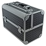 Fishing Tackle/ Bait Box Case Toolbox with Fold Out Trays 360x280x215mm Black