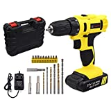 Cordless Drill Driver - GOXAWEE 21V Electric Screwdriver Cordless Power Drill Driver Set with Carry Case/2 Speed/19Pcs Drill and Bit Set