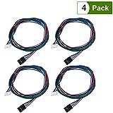 UEETEK 4 Pcs Bipolar Stepper Motor Cables 100 cm Long for NEMA 17 used in Reprap 3D Printers CNC Machines