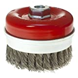 Toolzone M14 100mm Knotted Wire Cup Brush For 9' Angle Grinders