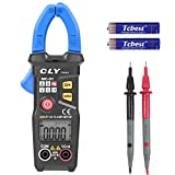 CLY Digital Clamp Meter, Multimeter Auto Range Multi Tester 6000 Counts with NCV Function and Backlight for Measuring AC Current, AC/DC Voltage, Resistance, Frequency Multi Testers