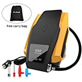 Tyre Inflator,Auto Shut-Off 12v Digital Car Air Compressor Pump 150PSI, Preset Tyre Pressure with Emergency Flashlight, 3 Air Nozzles for Ball, Bike, Airbed& Motorcycle by Dr.Auto