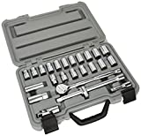 Draper 02370 25-Piece 1/2-Inch Square Drive Metric and Imperial Combined Socket Set