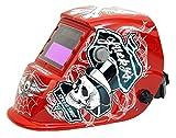 Spargo Auto Darkening Welding Cutting Helmet Mask Eyes Protection Solar Powered Gas Mig Tig Arc Welder Black