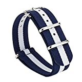 Gemony Nato Strap Premium Ballistics Nylon Watch Band 18mm Small and Light Package (Classic Glasgow)