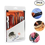 """AMILE Chainsaw Sharpener Kit, Contains Depth Gauge, Hardwood Handle, Flat File, Angle Guide File Holder and 3 Round Files, Round Files Size 5/32"""", 3/16"""", 7/32"""" with Work Bag"""
