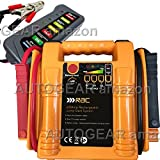 RAC 12v 400 Amp Rechargeable Compact Car Battery Booster Jump Starter Power Pack Includes 12v Battery & Alternator Tester