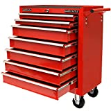 Hardcastle 7 Drawer Red Lockable Tool Chest Roller Cabinet