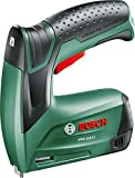 Bosch PTK 3.6 LI Cordless Tacker with Integrated 3.6 V Lithium-Ion Battery and 1000 Flatwire Staples