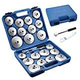 MultiWare 23pcs Oil Filter Wrench Set Aluminum Alloy Cup Type Oil Filter Wrench Cap Socket Removal Garage Tool
