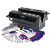 WORKPRO W009038A 183-Piece Tool Set w/5 Compartment Cantilever Tool Box