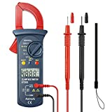 AstroAI Digital Clamp Meter, Auto Ranging Multimeter and Volt Meter; Measures Voltage Tester, AC Current, Resistance, Continuity; Tests Diodes