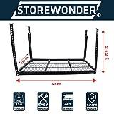 Original Ceiling Rack Storewonder Shelves Garage, Metal shelf system now Easy Storage. Create 'Use to value Full Storage Space.