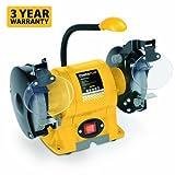 Powerplus (6' Inch) 150mm 350 Watt Bench Grinder / Belt Sander with LED Work Light POWX1230 - 3 Year Home User Warranty