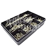 385 ASSORTED PIECE M3.5 ELECTRICAL SCREWS LIGHT SWITCH PLUG 25mm 35mm 40mm 50mm