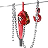 OrangeA Chain Block 3T Ratchet Lever Block Chain Hoist Manual Lever Chain Hoist Come Along Chain Puller 5Ft Lift