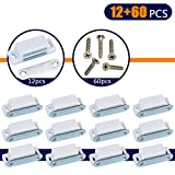 Coardor Cupboard Magnetic Door Catch for Cabinet 12 in 1 Kit Screws 60pcs Heavy Duty Magnet Catches Kitchen Latch Small Home Furniture Wardrobe White 6kg Pull Strong