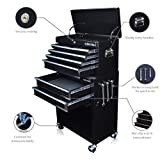 US PRO TOOLS TOOL CHEST TOOL BOX ROLLER CABINET GLOSS BLACK WITH DRAWER DIVIDERS!