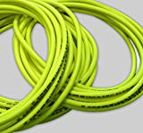 40m 3/8' (10mm) Hi-Vis industrial 20 Bar compressor air line/water hose - FDA approved, fluorescent braided PVC