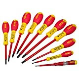 Stanley 562573 FatMax Screwdriver Set Insulated Par/Flared/Pozi (10 Pieces)