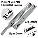 Pair of Double Fully Extension Ball Bearing Drawer Slide Runner Heavy Duty 60kg With Fitting (Pair 700mm (28''))