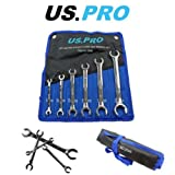 US PRO 6 Piece Metric 6 Point Flare Nut Spanner Wrench Set 6 - 24mm 2046