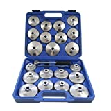 Merry Tools HK 23PC Aluminum Alloy Cup Type Oil Filter Wrench Socket Removal Garage Tool 450256
