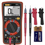 Ranging Digital Multimeter with Alligator Clips, AC/DC Voltage/Account test,Voltage Alert, Amp/Ohm/Volt Multi Tester/Diode and Continuity Test HZ with Back light LCD Display