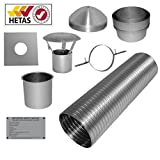 7m 6' Flexible Multifuel Flue Liner Pack/kit For Stove