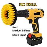 OxoxO 5inch Medium Heavy Duty Stiff Scrub Brush for Kitchen, Stoves, Cabinets, Counters, Linoleum, Bathroom, Bathtub, Shower, Tile, Porcelain Cleaning with Quick Change Shaft