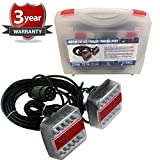 NEW MAGNETIC LED TRAILER TOWING LIGHTBOARD LIGHTS 7.5 METRE CABLE LAMPS CLUSTER