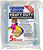Extra Strong Vacuum Storage Bags, Stupidly Useful Heavy Duty 5x XL 100x70cm