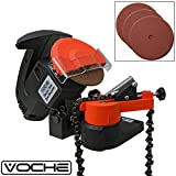 Voche 220W Electric Bench Top Chainsaw Blade Chain Sharpener with 3 Sharpening Grinding Wheels